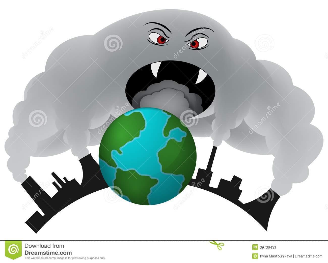 Air Pollution Clip Art.