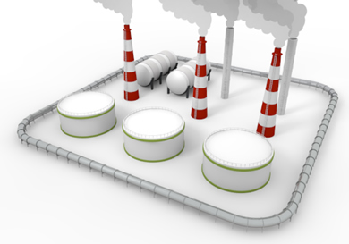 Industrial area clipart.