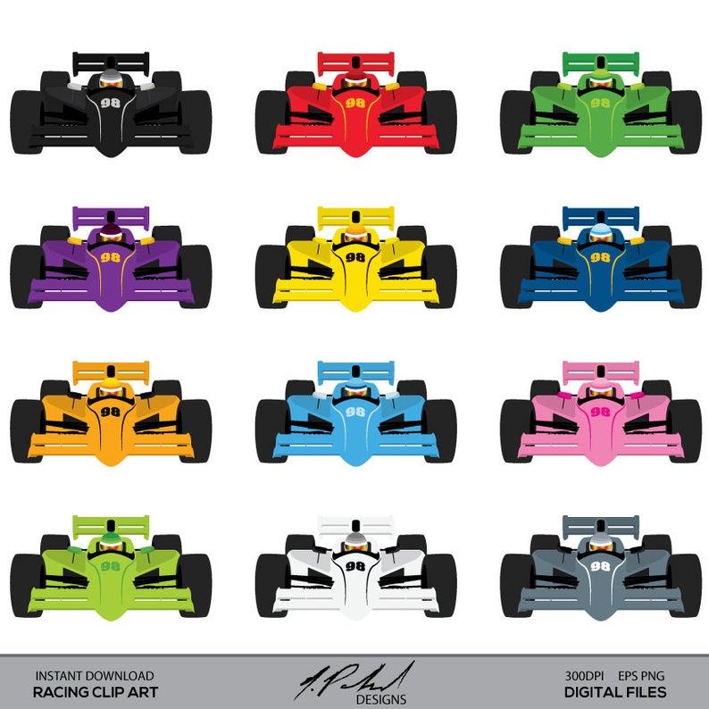 Racecar Clip Art.