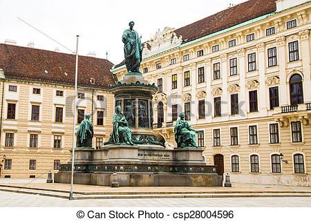 Stock Fotografien von Wien, hofburg, innenhof, denkmal, franz.
