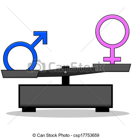 Clipart Vector of Sex inequality.