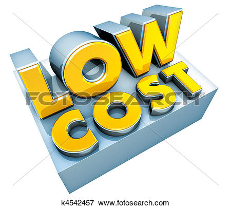 Stock Illustration of low cost logo k4542457.