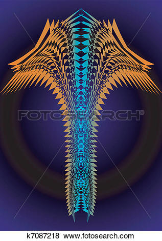 Clip Art of 12. Abstraction, inexplicable light k7087218.