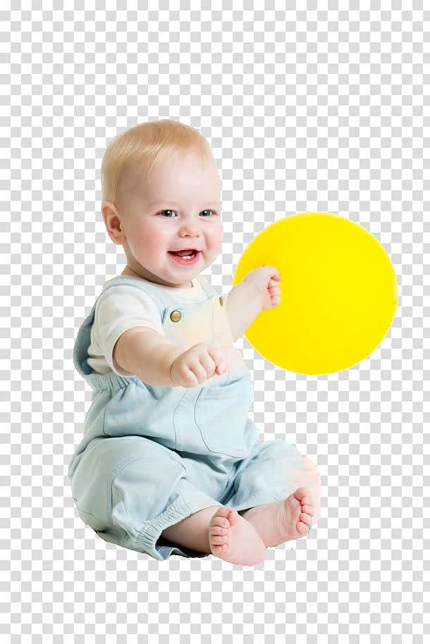 Child Infant Toy Boy, Baby playing with balloons transparent.
