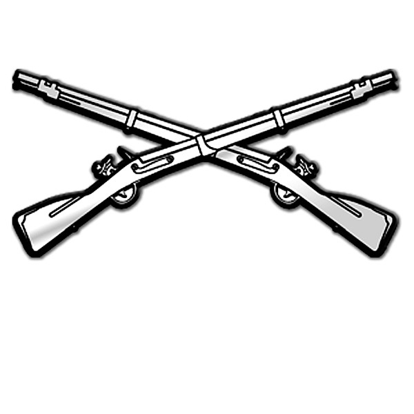 Infantry crossed rifles clipart.