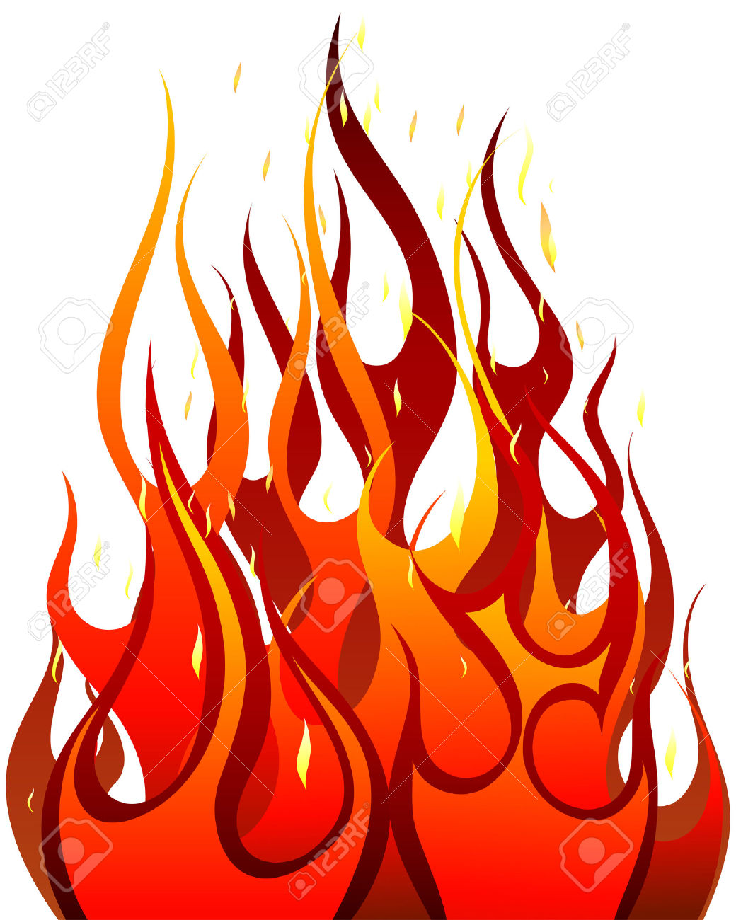 Hot fire clipart images.