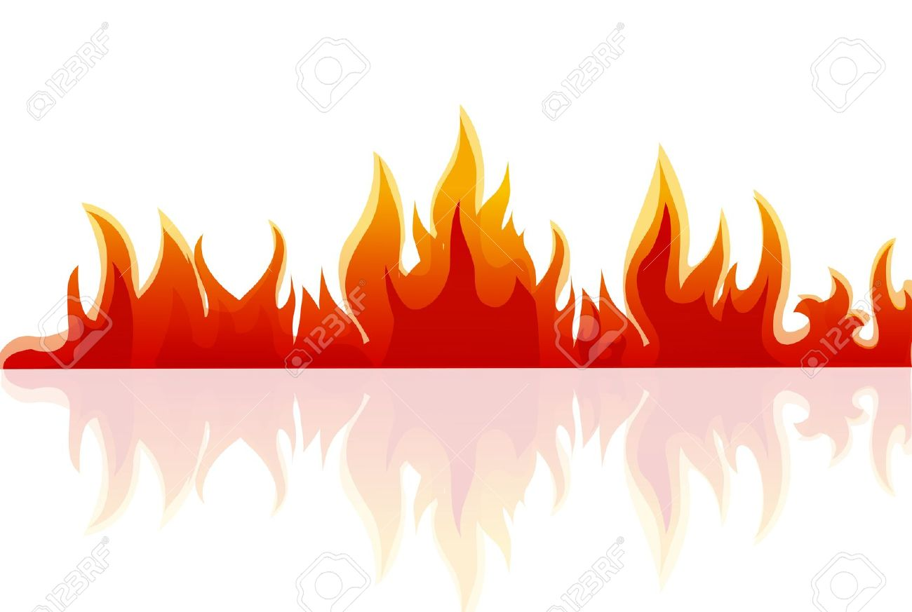 Illustration Of Fire On White Background Royalty Free Cliparts.