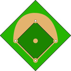 Baseball Infield Clipart.
