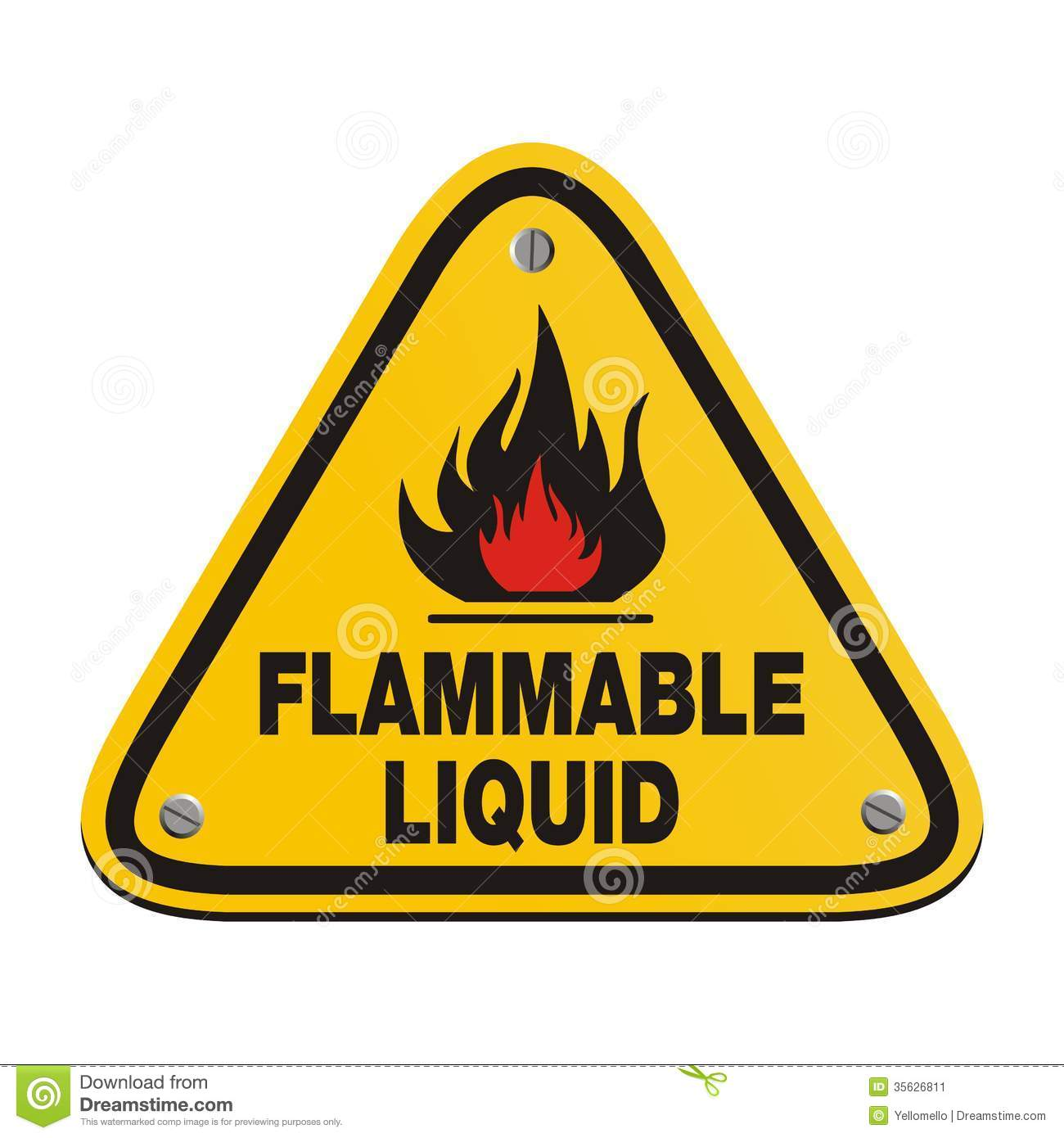 Inflammable Liquid Stock Images.