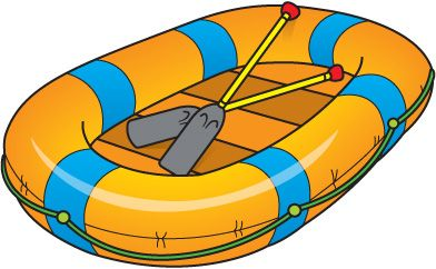 Inflatable Raft Clipart.