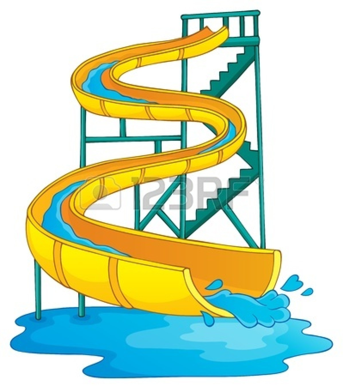 Inflatable Water Slide Clipart.