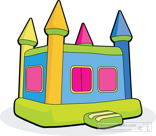 Splash house inflatable cartoons clipart.