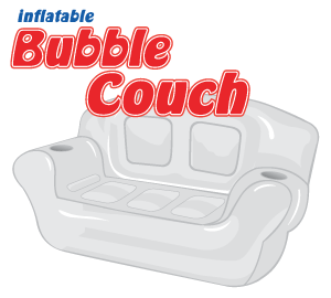 Perfect Purple Inflatable Bubble Couch.