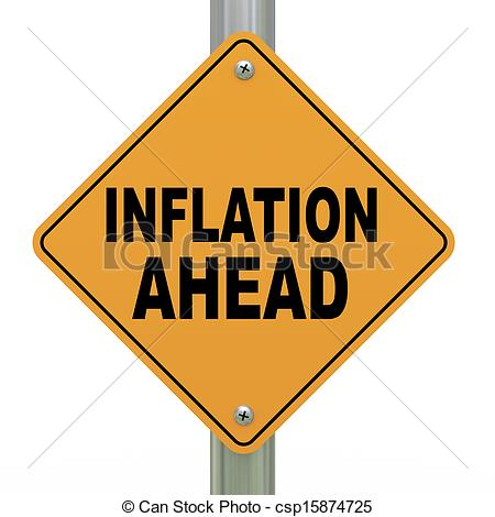 Inflation in Economics Clip Art.