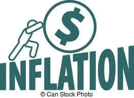 Inflation vector clip art.
