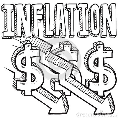 Money inflation clipart.