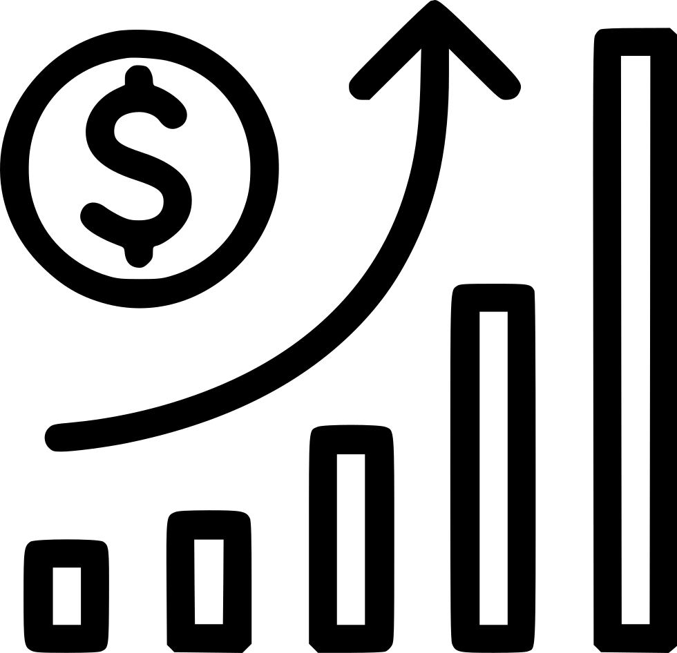 Graph Growth Money Stock Inflation Svg Png Icon Free Download.