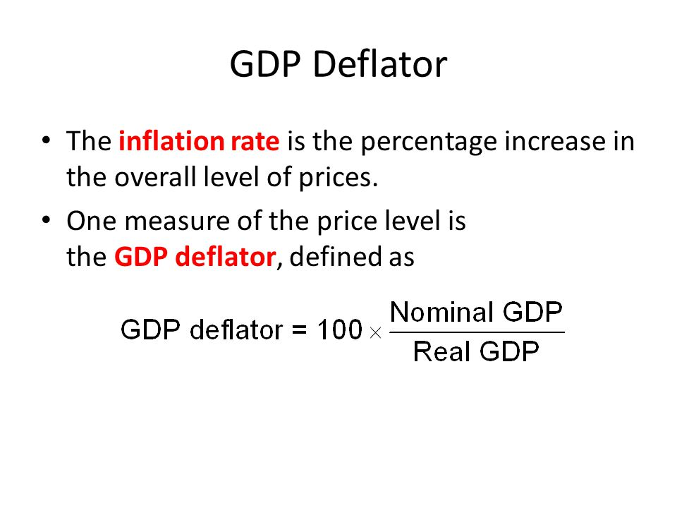 Inflation Rate Equation.