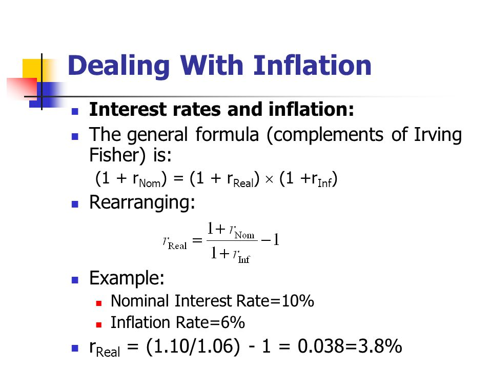 interest rates and inflation The interest rate is the percent of principal charged by the lender for the use of its  money they impact the economy by controlling the money.