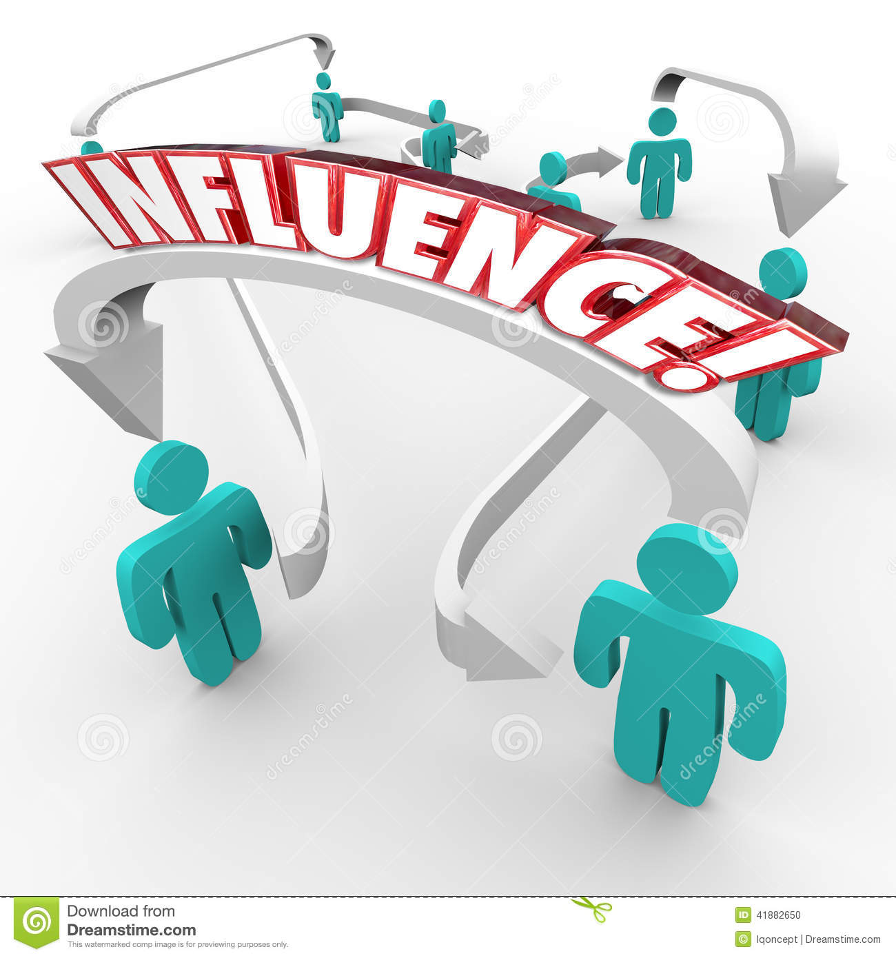Influence Stock Illustrations.