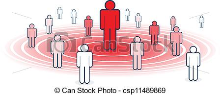 Clip Art Vector of Influence.