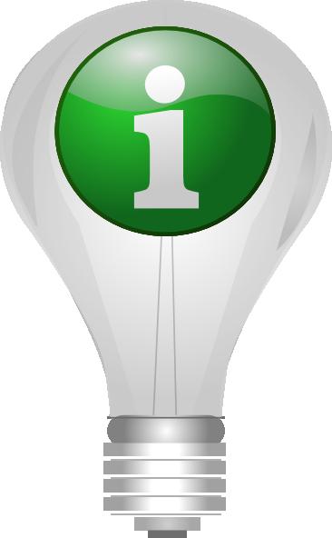 Light Bulb Info clip art Free Vector / 4Vector.