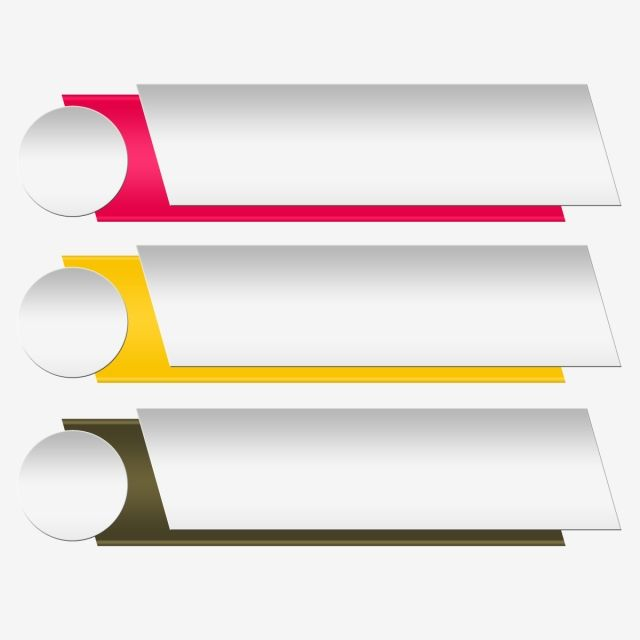 Vector Banner Option Labels Infographic, Png, Text Box.