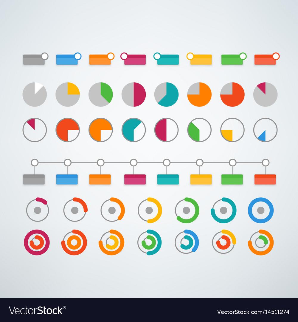 Different color infographic elements clipart.