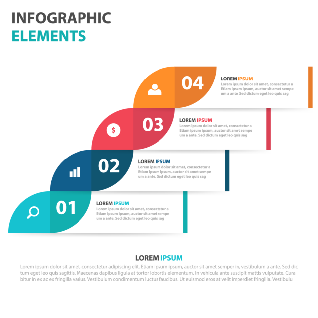Abstract Colorful Label Business Infographics Elements, Infographics.