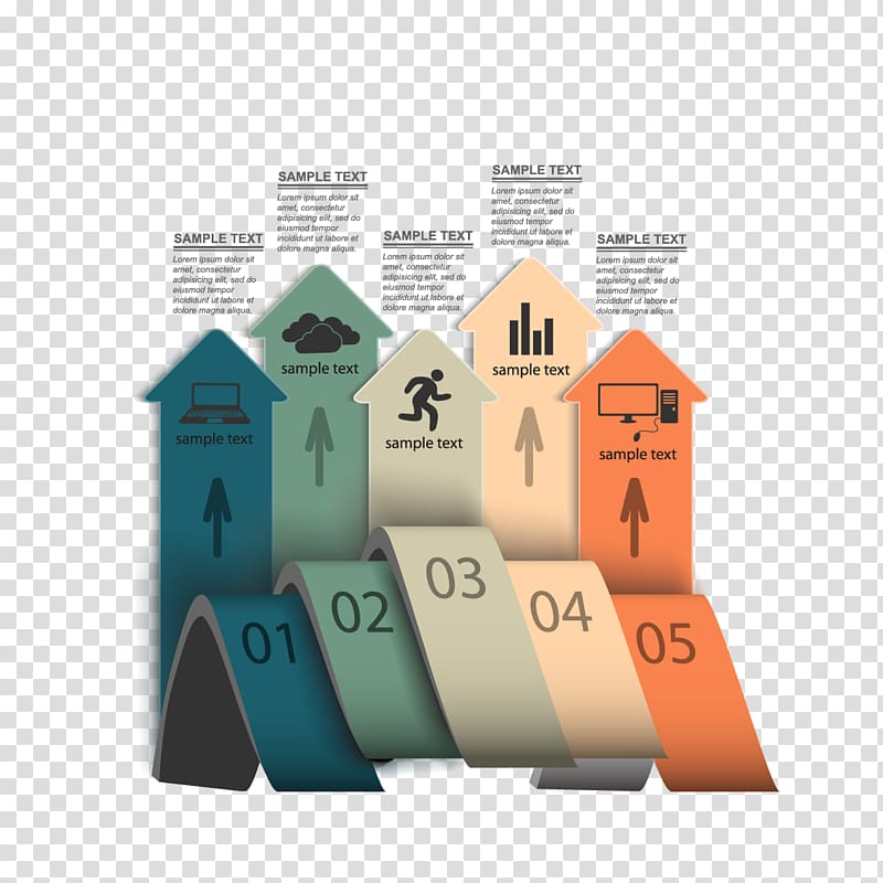 Infographic Template Icon, material arrow ppt and ppt icon.