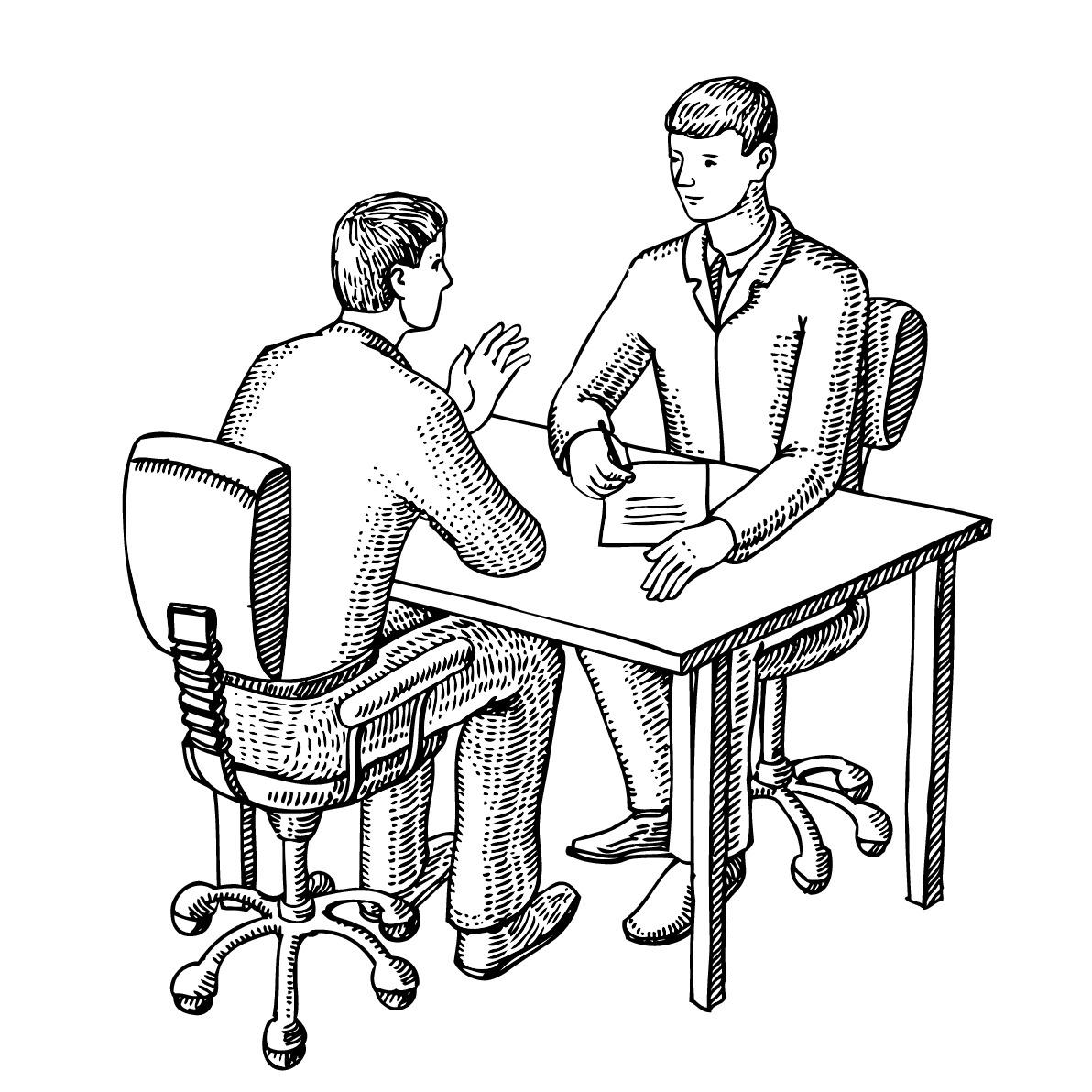 Informal interview clipart.