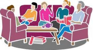 Book discussion clipart.