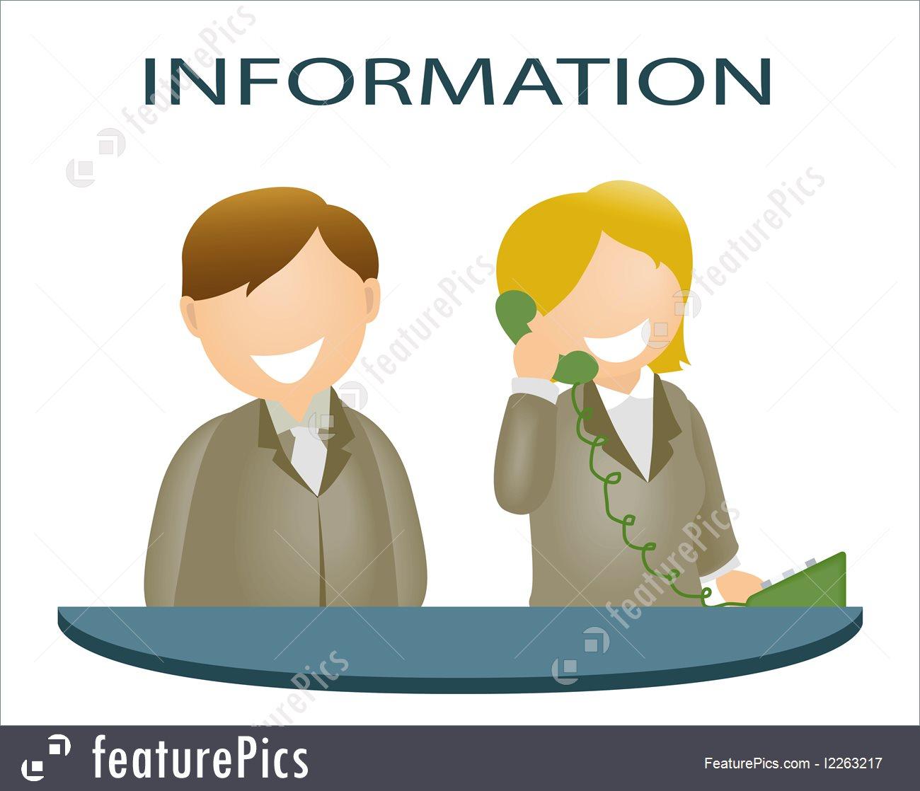 Illustration Of Information Desk.