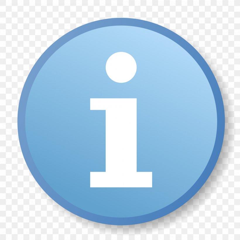 Information Logo Symbol, PNG, 2000x2000px, Information, Blue.