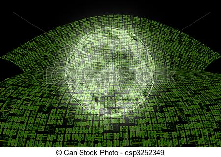 Stock Illustration of Internet Information Super Highway to the.