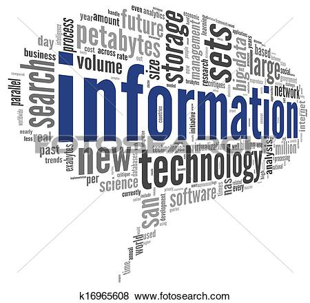Stock Illustration of Information technology in tag cloud.