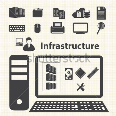 It infrastructure clipart.