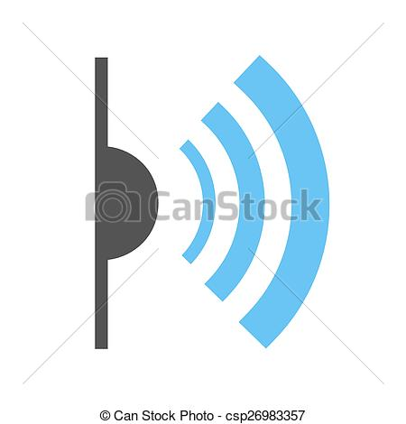 Clipart Vector of Infrared, red, light, signals icon vector image.