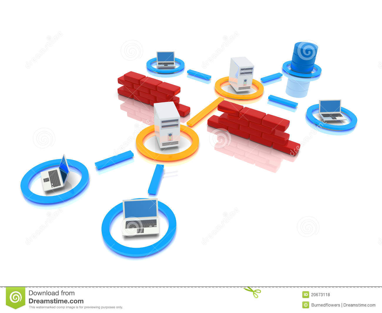 Network Infrastructure Clipart.