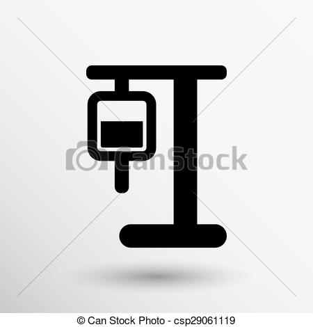 Vector Clip Art of infusion icon illustration medical bag dropper.