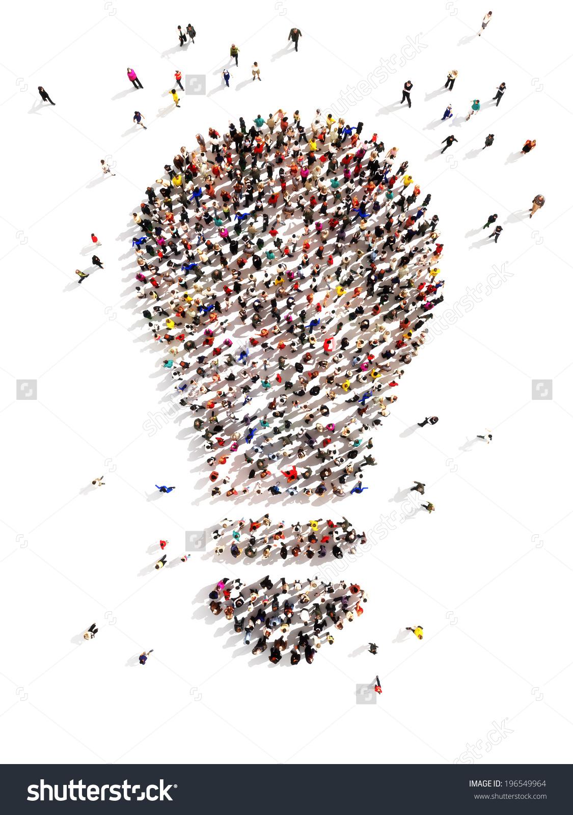 Large Group People Ideas Few Moving Stock Illustration 196549964.