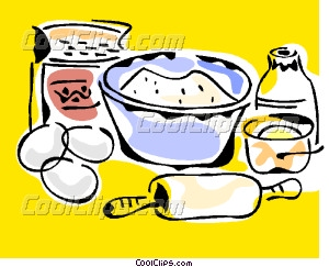 baking ingredients Vector Clip art.