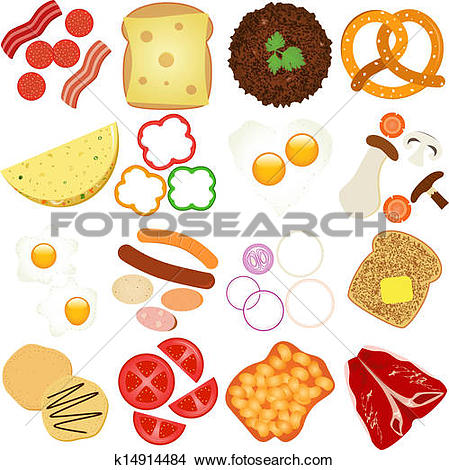 Clip Art of Fried Food In Non.