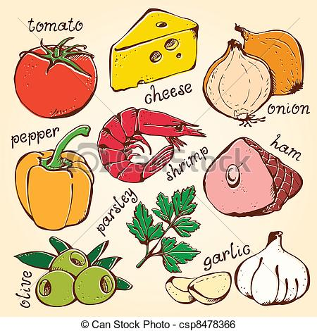 Food ingredients images clipart.