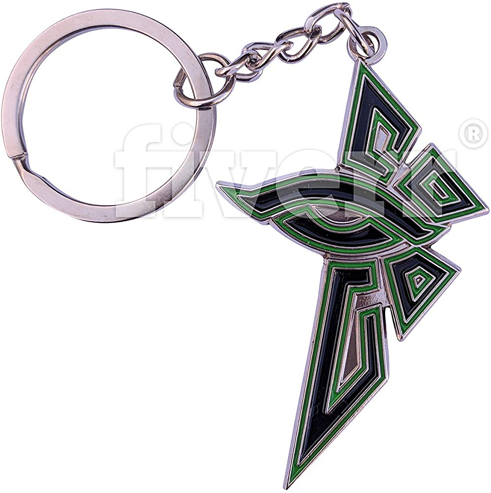 Ingress Enlightened Eye Logo Double Sided Keychain.
