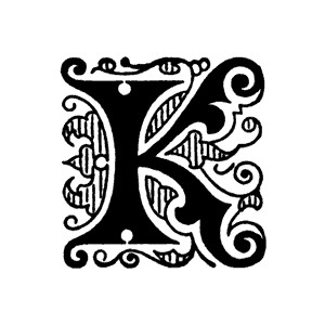 K initial clipart.