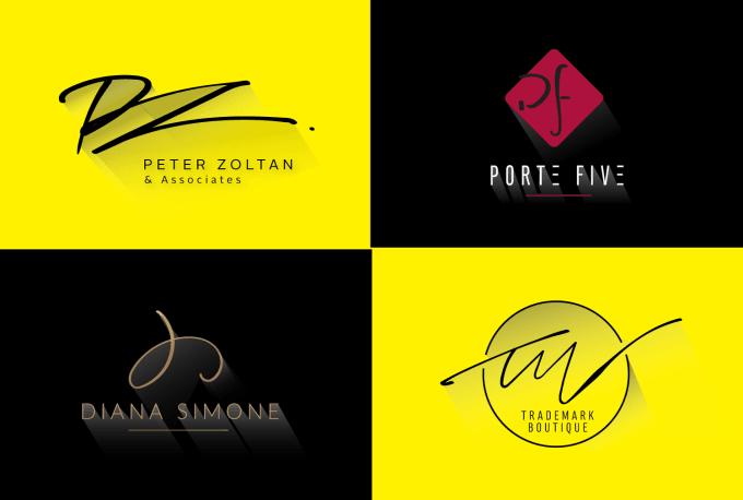 design minimalist hand drawn initials monogram logo.