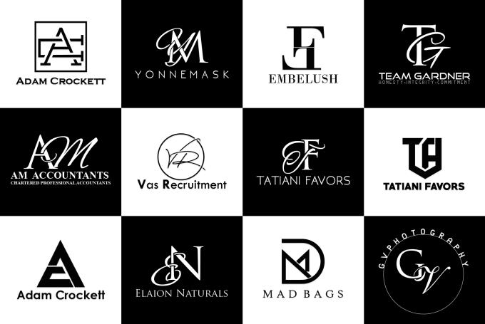 design amazing modern monogram initial logo design.