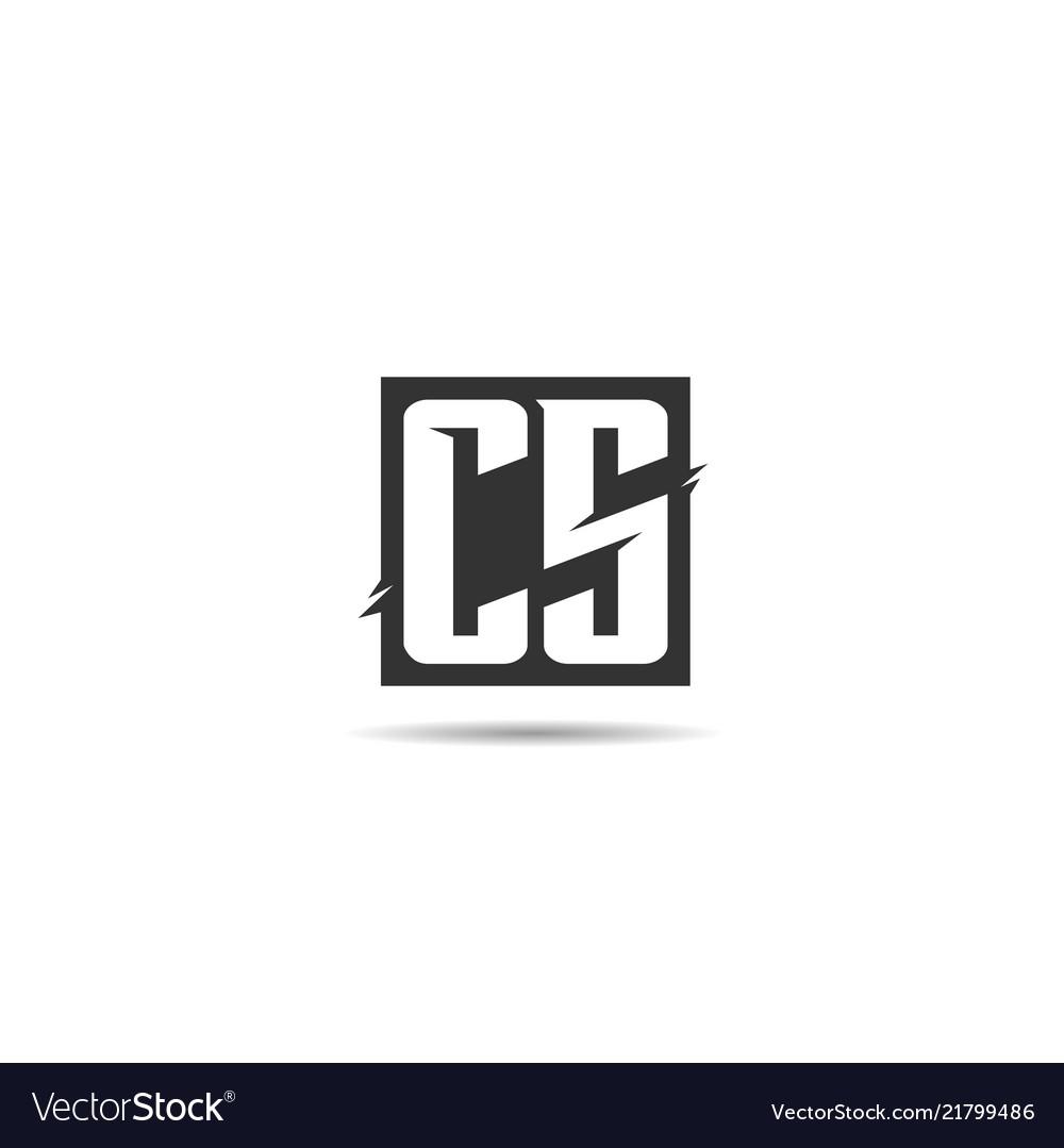 Initial letter cs logo template design.