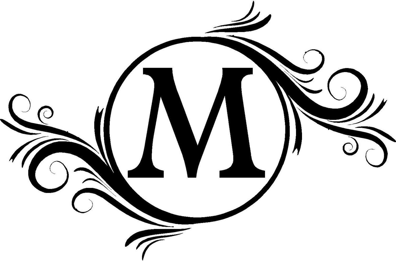 Monogram Initials Clipart.